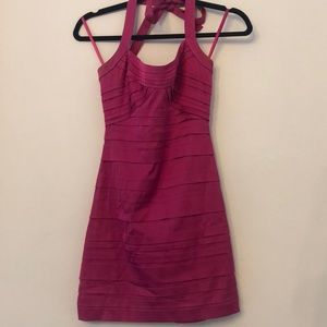 BCBG Pink Halter Dress